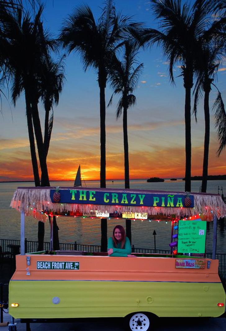 Sunset photo of Crazy Pina