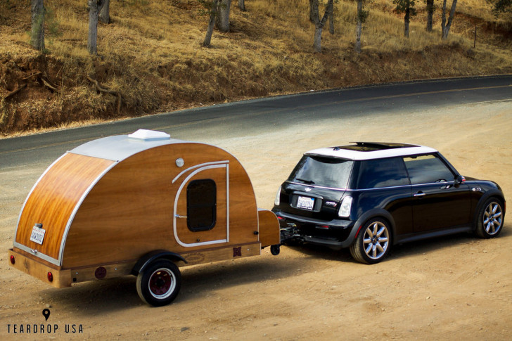Mini Cooper camper trailer