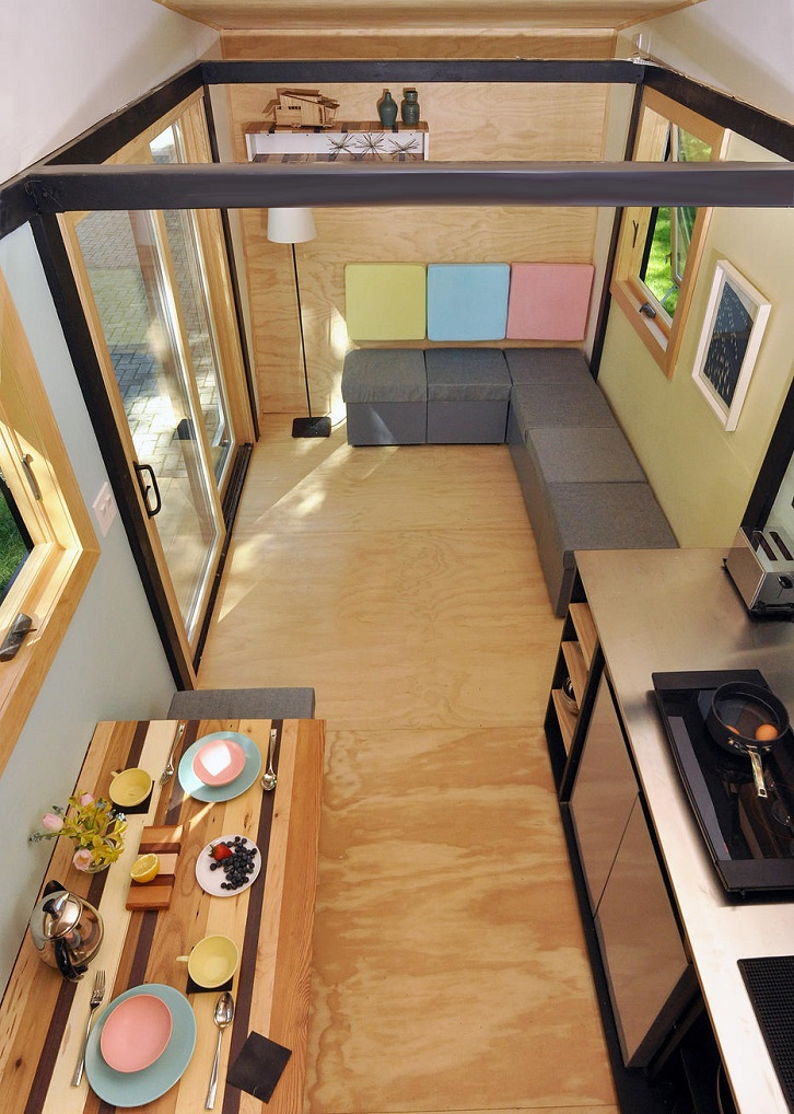 Toy Box Tiny Home Living Area