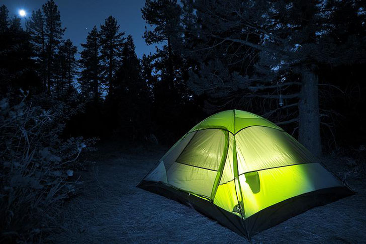 powering a tent