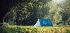 Custom screen printed tent