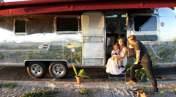 Fully restored vintage Airstream