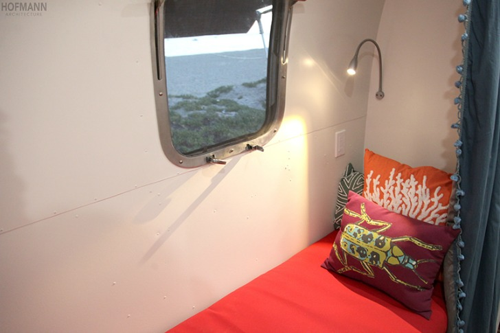 Reading nook in Airstream
