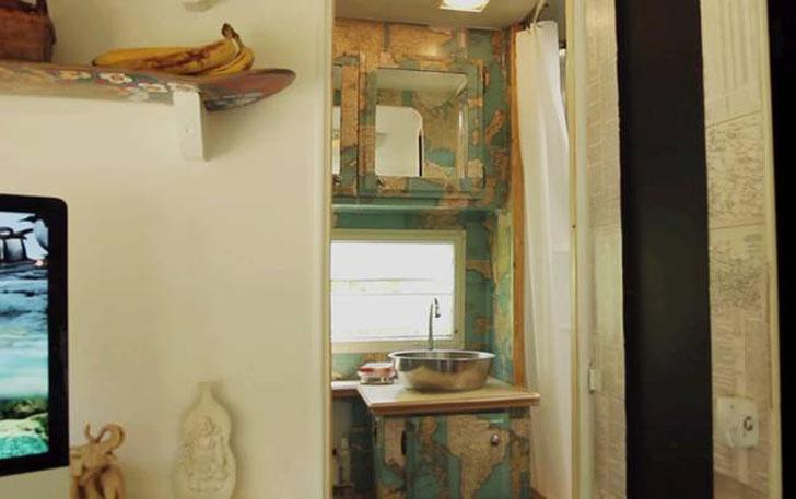 map decoupage cabinets