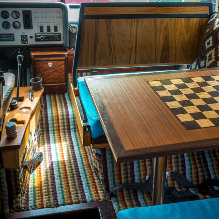 chess table folded down