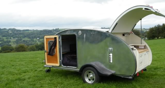Custom built teardrop camper
