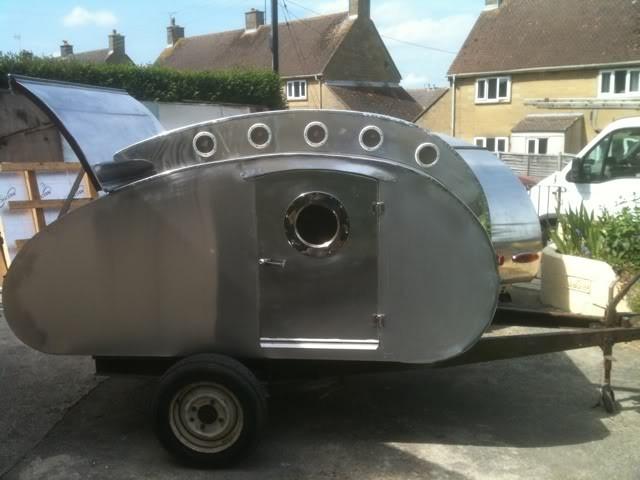 Vintage inspired teardrop camper