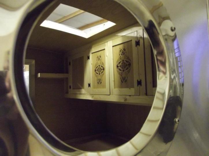 Custom cabinets in teardrop