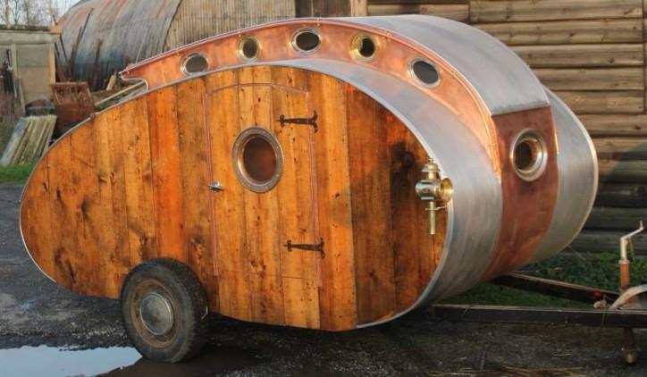 Steampunk Teardrop Caravan