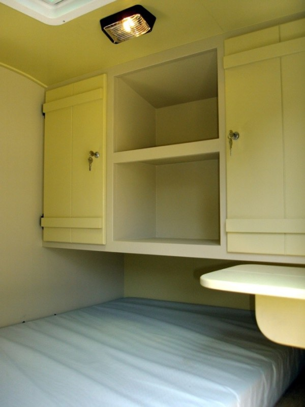 Cabinets and bed