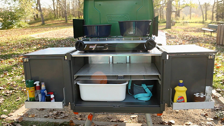 C&-Caddy-Kitchen-DIYRV & Grill In Style: 5 Elegant And Portable Camp Kitchens