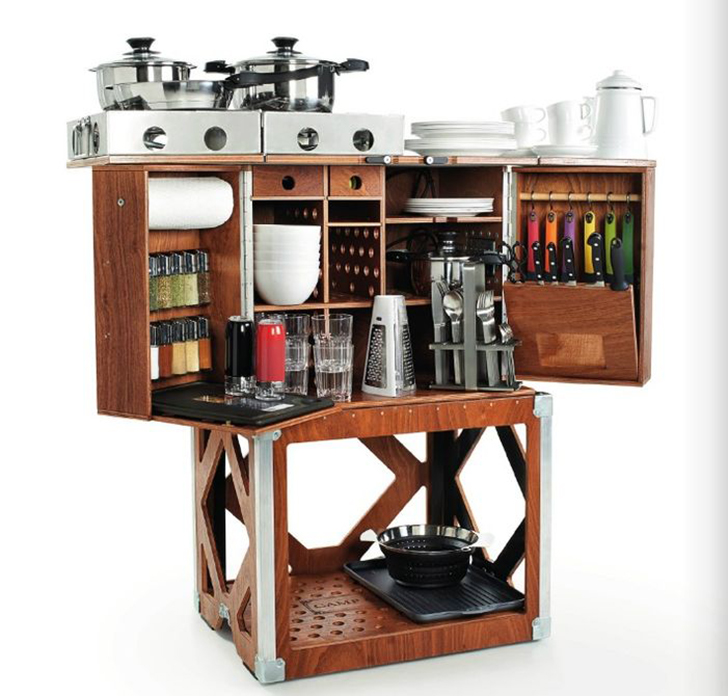 Portable Mini Kitchen: Grill In Style: 5 Elegant And Portable Camp Kitchens