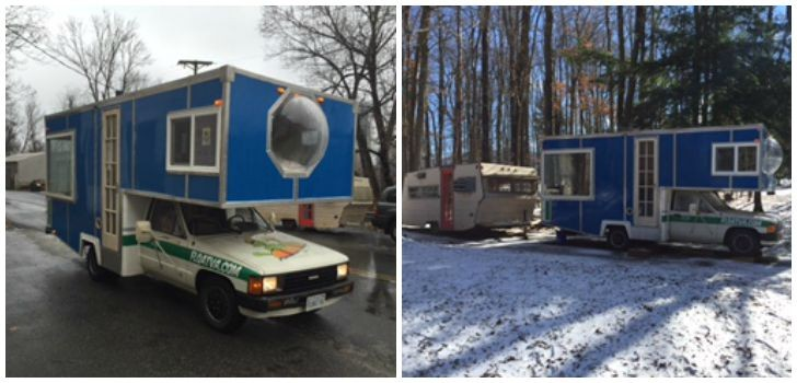 30+ Year Old Toyota Motorhome Now A Homemade Ski Chalet