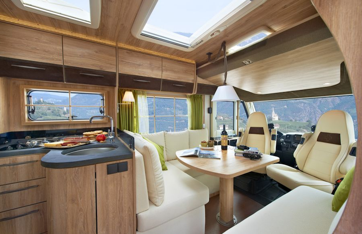 Inside Of Swiss Chalet Motorhome