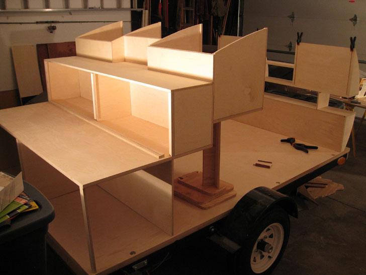 cabinets on trailer base