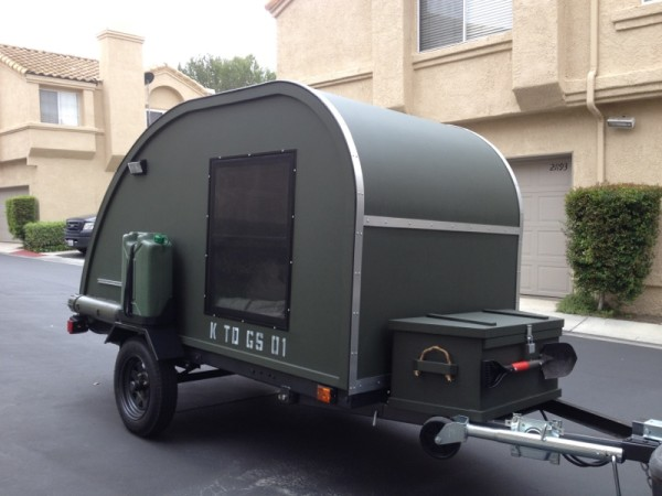 Small Military Like Teardrop Trailer Built For 2 000