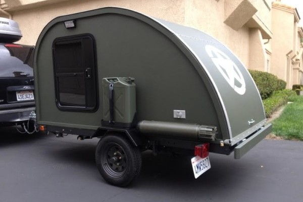 Small Military-Themed Teardrop Trailer Built For $2,000