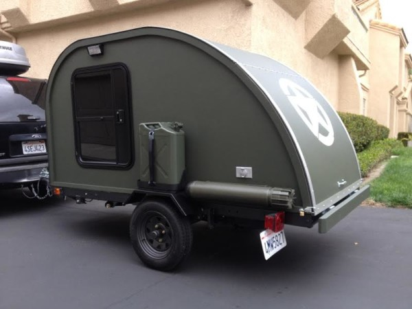 Truck Camper Plans Build Yourself: Small Military-Like Teardrop Trailer Built For $2,000