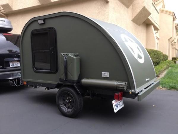 Military teardrop camper
