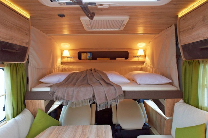 Motorhome bunk area