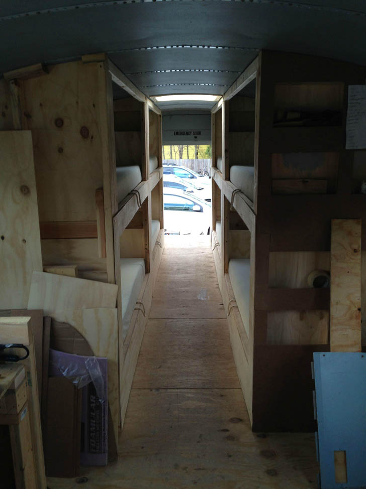 bunks about half done