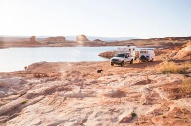 Truck Camper + Trailer
