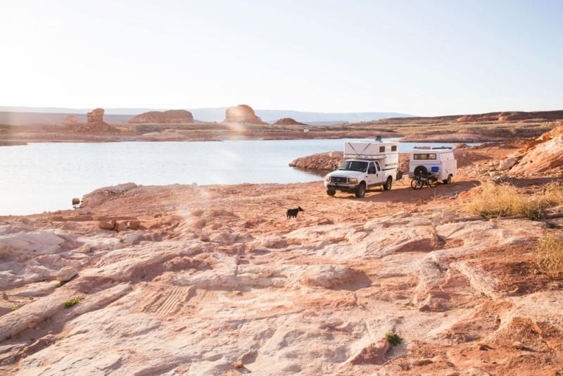 Truck Camper plus Utility Trailer