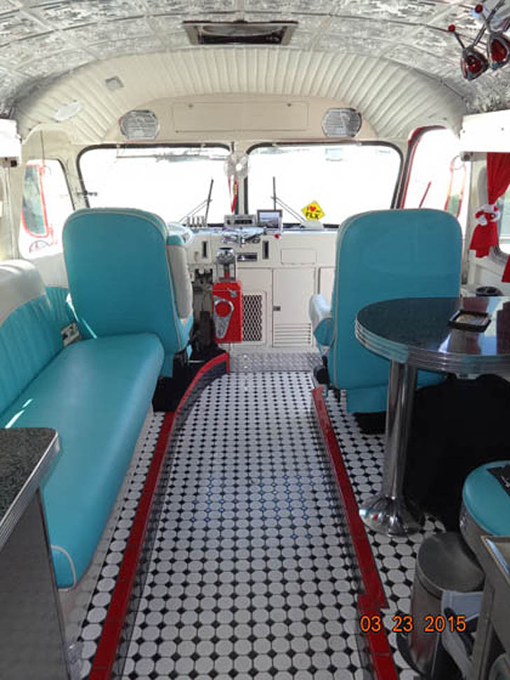 1946 Flxible Bus Conversion With 50 S Diner Feel