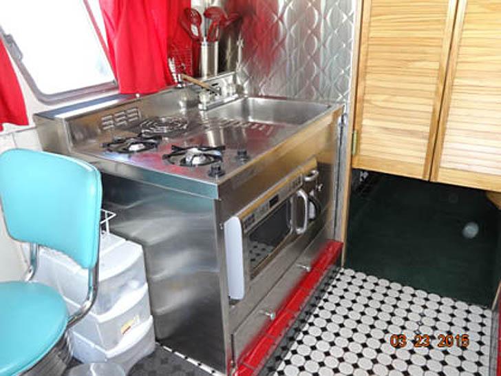 bus kitchen view
