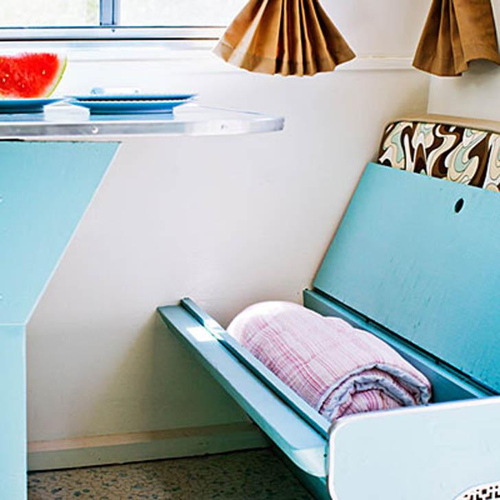 Storage inside bench