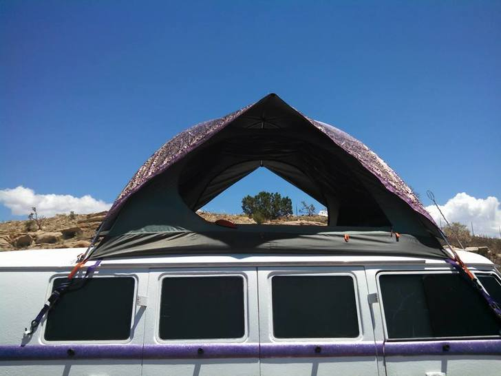 Raised roof offers headroom in VW Bus conversion