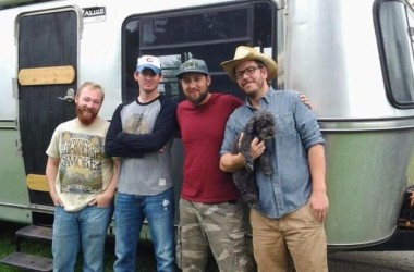 Band Bad Marmot poses with Avion