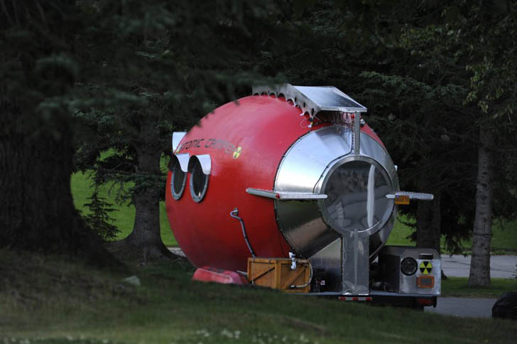 rear view atomic camper