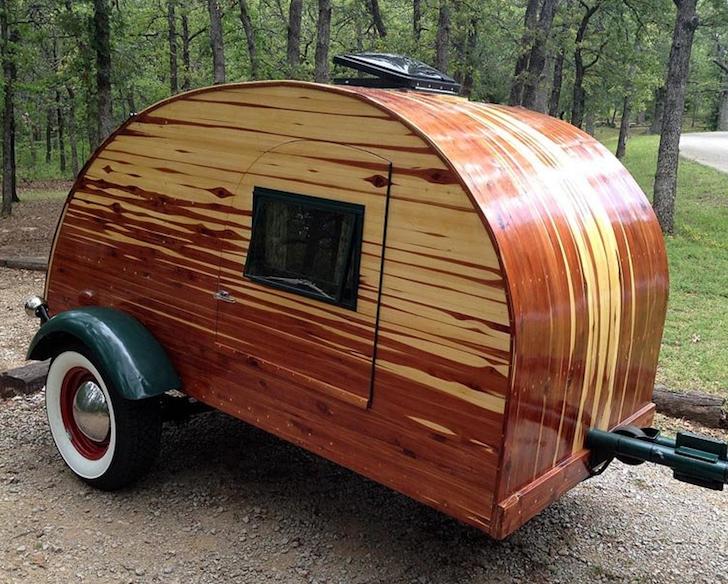 Cedar teardrop trailer