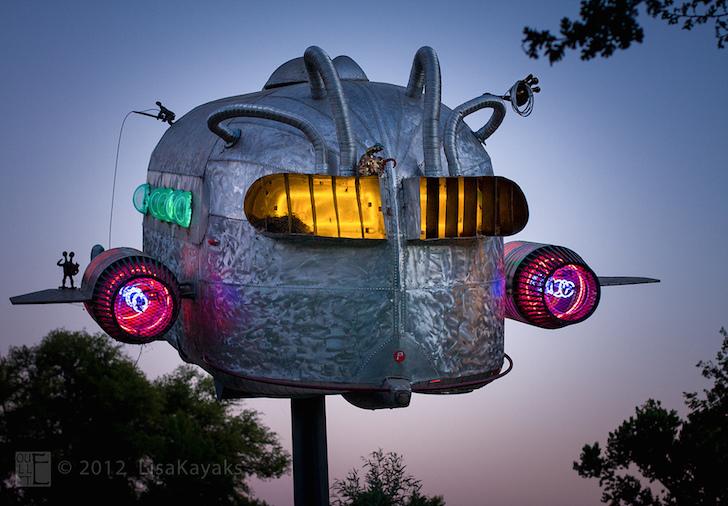 Curtis Wright trailer sculpture