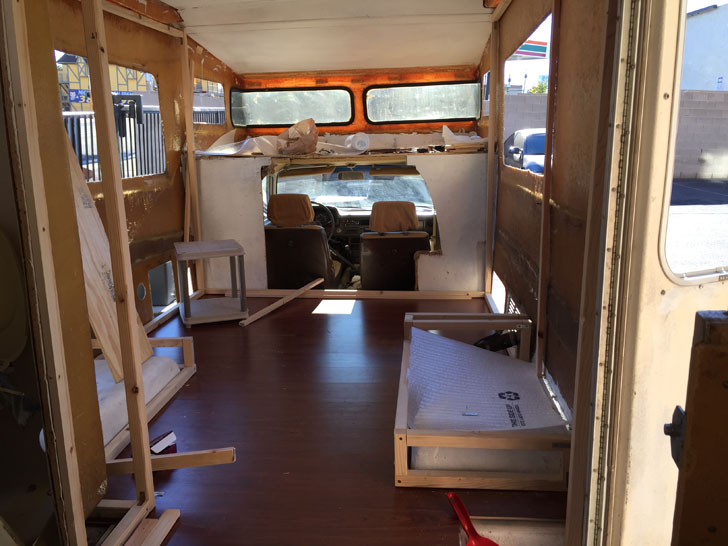 framed and flooring in