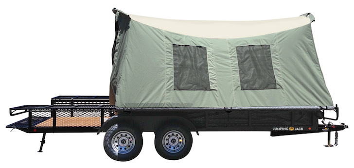 Jumping Jack tent and trailer