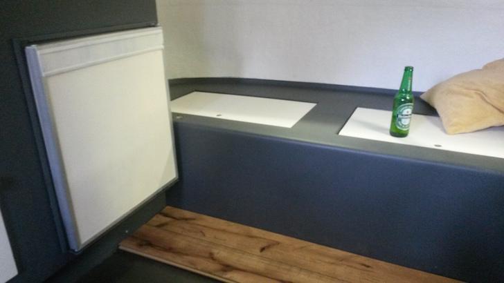 New flooring in trailer