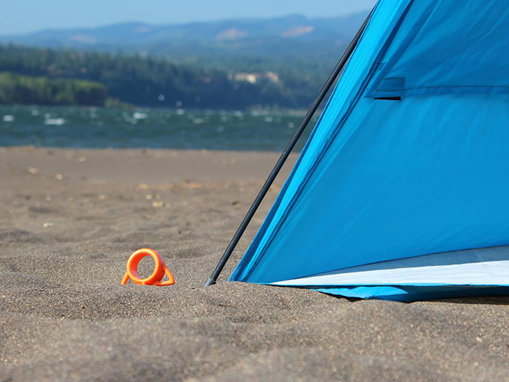 Orange-Screw-groundanchor-beach
