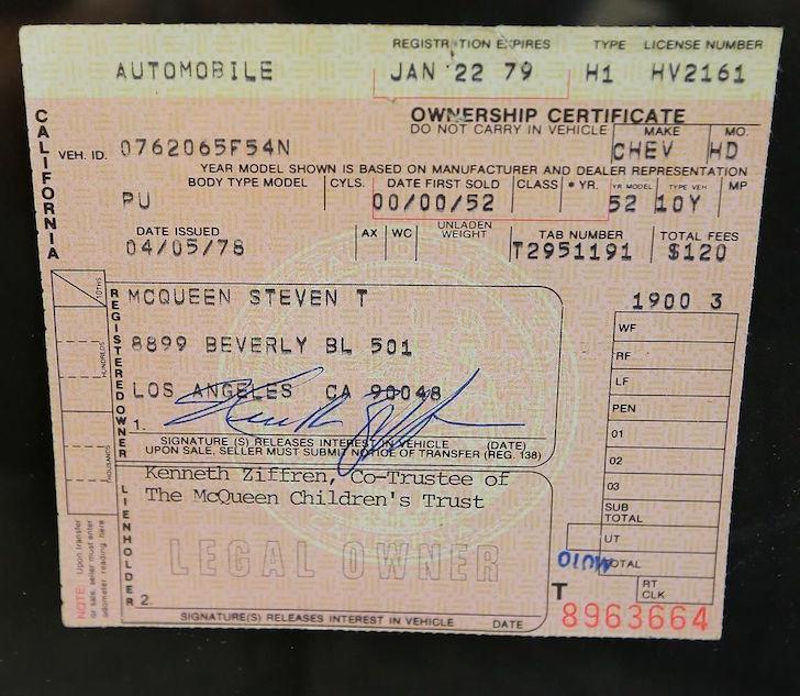 Original registration form