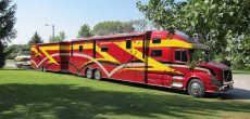 This Mega RV Gets Better Mileage Than A Luxury Motorcoach – Wow