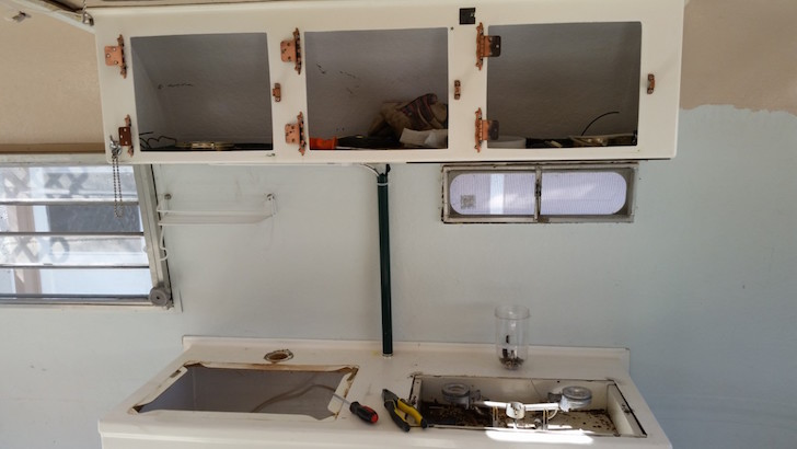 Removed kitchen doors