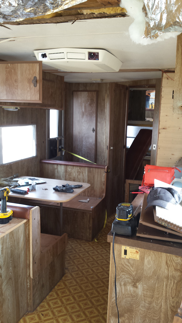 Renovating a trailer