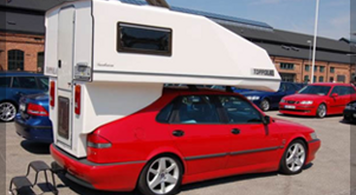 Saab Toppola Camper A Revered Small Car Camper