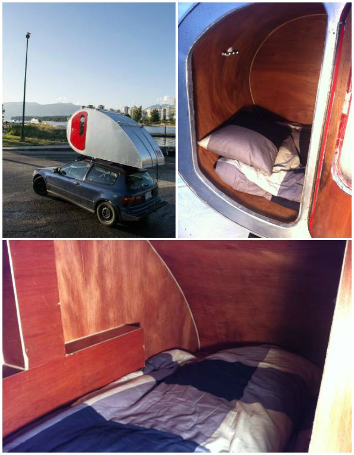 Teardrop roof camper