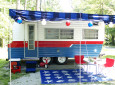 Vintage 1972 Crossroads Camper Turned Into A Charming Lake House