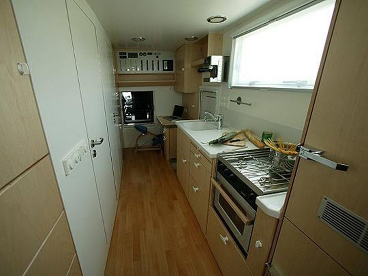 galley facing rear