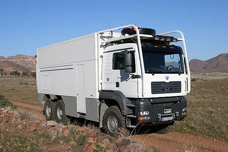 garbage truck camper