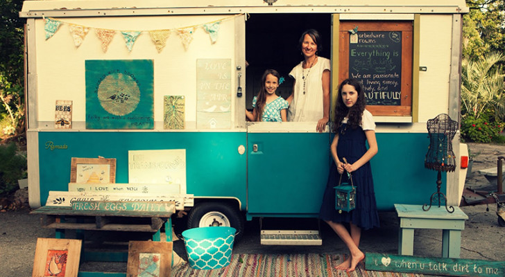 Vintage Apache Ramada Camper Transformed Into A Mobile Art Studio
