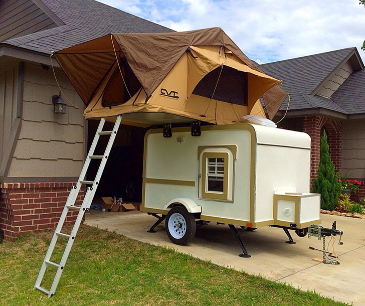 Two Story Teardrop Trailer Featured In New Pioneer Magazine